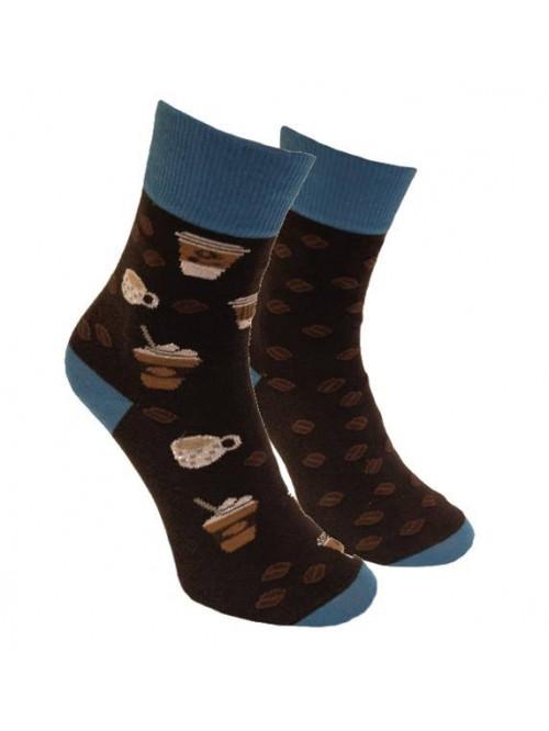 Ponožky Kávopič Foxysoxy Tmavohnedý