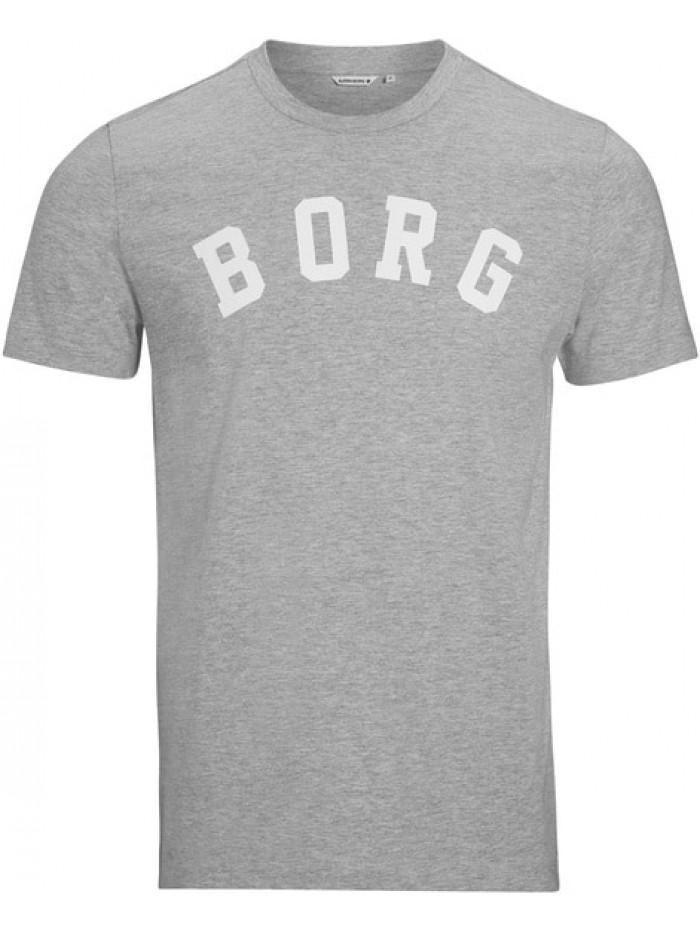 Pásnké tričko Björn Borg Berny Tee Light Grey Melange šedé