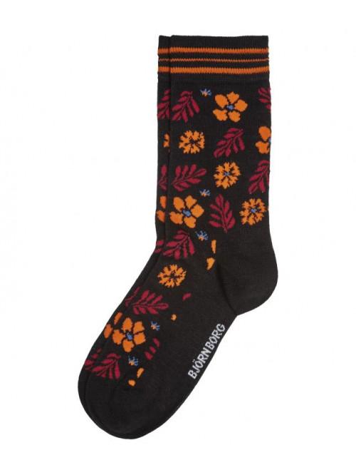 Ponožky Björn Borg Bloom oranžovo-černé