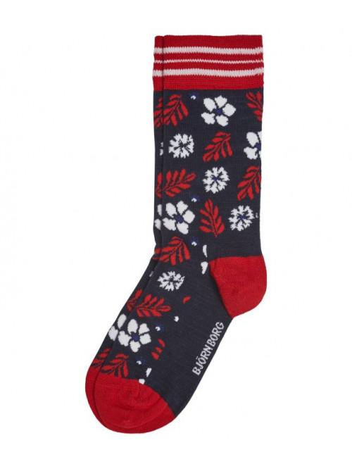 Ponožky Björn Borg Bloom modro-červené