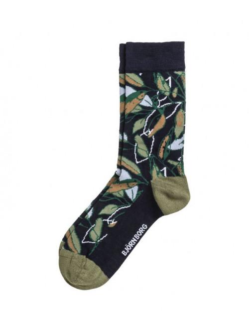 Ponožky Björn Borg NY Greenery modro-zelené