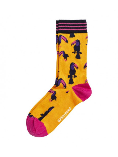 Ponožky Björn Borg Toucan oranžové