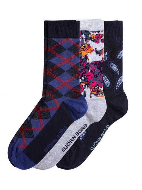 Ponožky Björn Borg X-mas 3-pack
