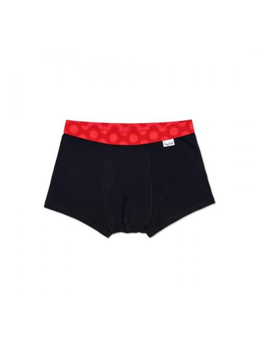Boxerky Happy Socks Contrast - černo-červené