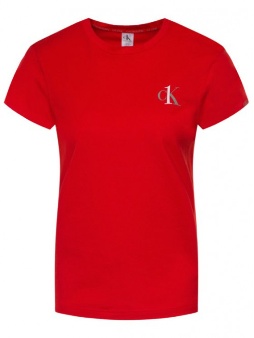 Dámské triko Calvin Klein CK ONE SS Crew Neck červené