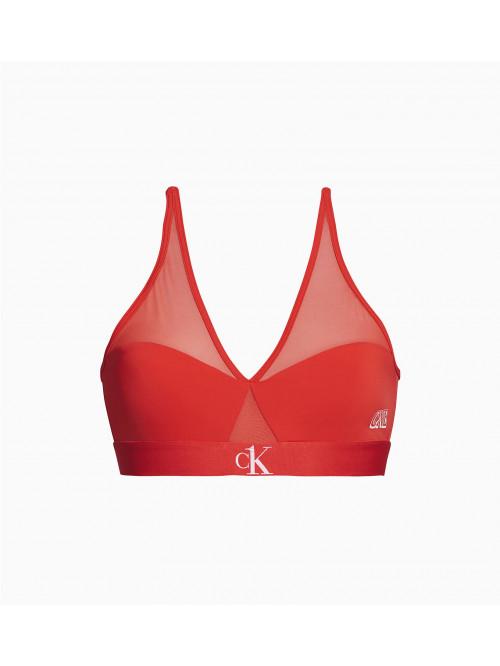 Dámská podprsenka Calvin Klein CK ONE Camo Unlined červená