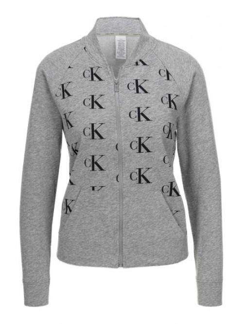 Dámská mikina Calvin Klein Top Jacket šedá
