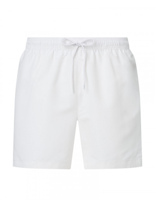 Plavkové šortky Calvin Klein Medium Drawstring bílé