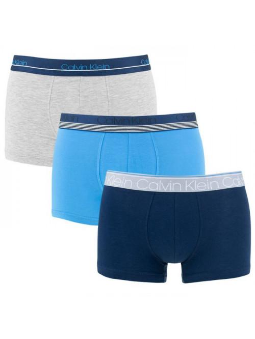 Pánské boxerky Calvin Klein Cotton Stretch 3-pack tmavomodré, modré, šedé