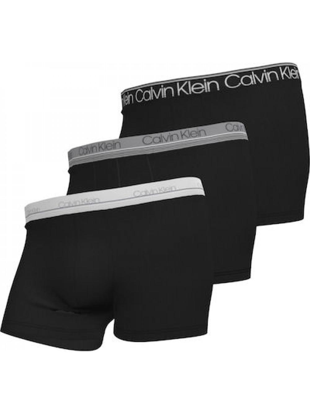 Pánské boxerky Calvin Klein Cotton Stretch Trunk 3-pack černé