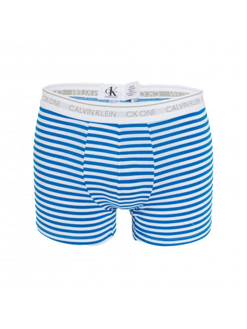 Pánské boxerky Calvin Klein CK One Stripes bílo-modré