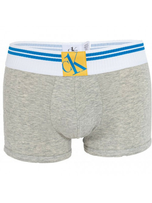Pánské boxerky Calvin Klein CK ONE Yellow Logo šedé