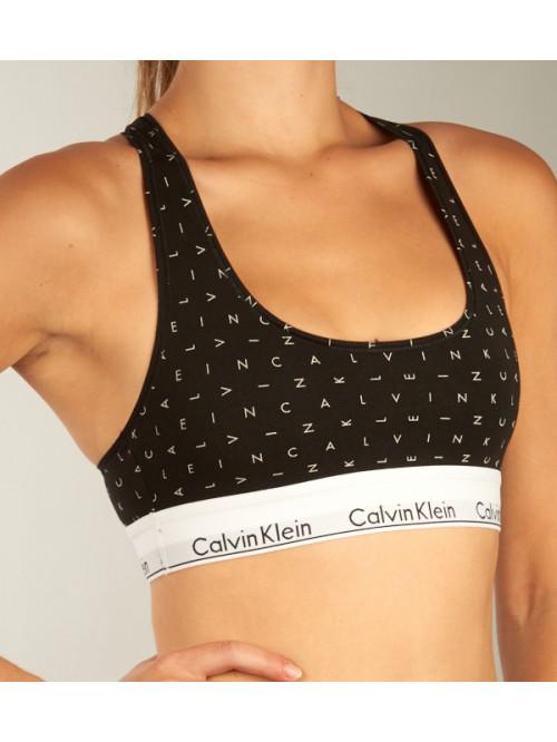 Dámská sportovní podprsenka Calvin Klein Boundless Logo černá