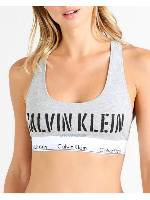 Dámská sportovní podprsenka Calvin Klein Bralette Unlined sivá