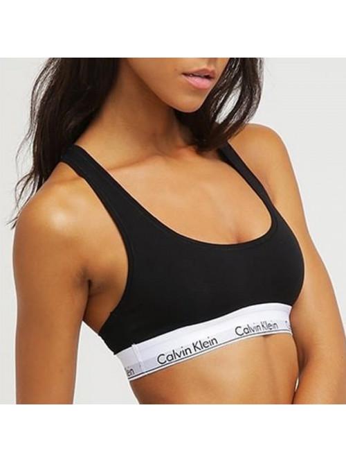 Dámská sportovní podprsenka Calvin Klein Cotton Bralette černá