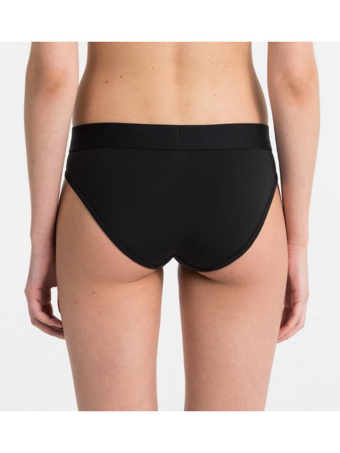 Dámske kalhotky Calvin Klein Tonal Logo Bikini černé