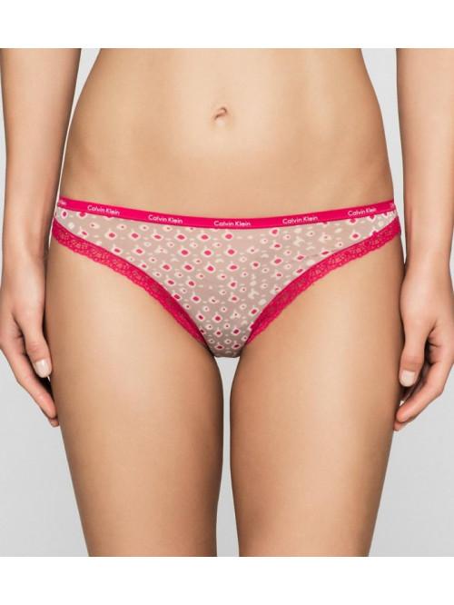 Dámské kalhotky Calvin Klein Short Hipster růžovo-hnědé