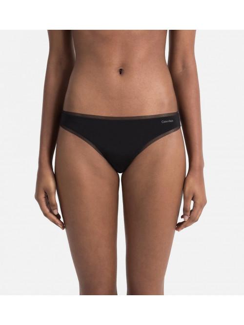 Dámská tanga Calvin Klein Sculpted Mesh černé