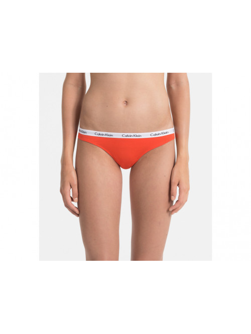 Dámské tangá Calvin Klein Carousel Thong Vibration oranžové
