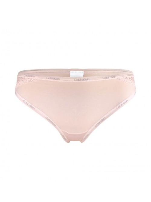 Dámské brazílske kalhotky Calvin Klein Brazilian Panty Flirty s krajkou růžové