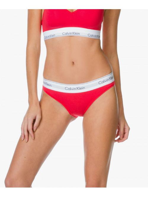 Dámske kalhotky Calvin Klein Modern Cotton Bikini červené