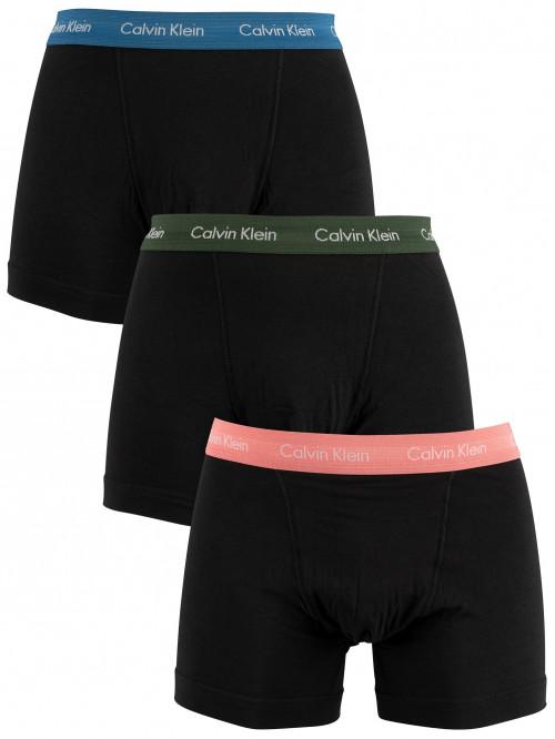 Pánské boxerky Calvin Klein Cotton Stretch černo- modré, zelené, růžové 3-pack