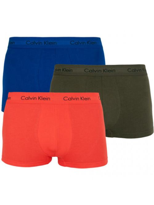 Pánské boxerky Calvin Klein Low Rise Trunk modré, zelené, oranžové 3-pack