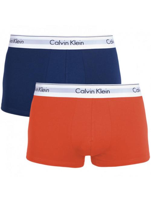 Pánské boxerky Calvin Klein Modern Cotton modré, oranžové 2-pack