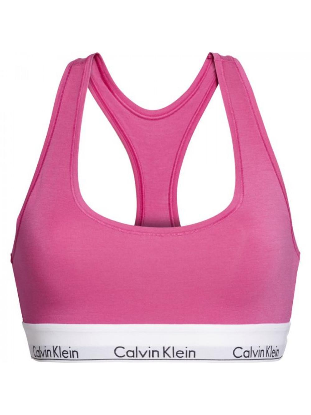 Dámská sportovní podprsenka Calvin Klein Unlined Bralette růžová