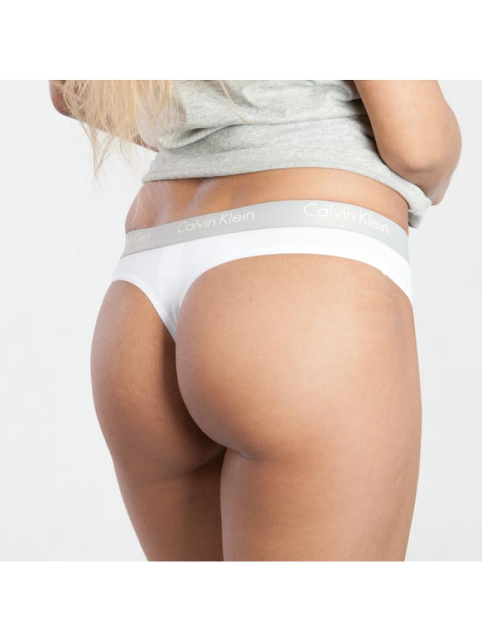 Dámská tanga Calvin Klein Radiant Cotton Thong bílé