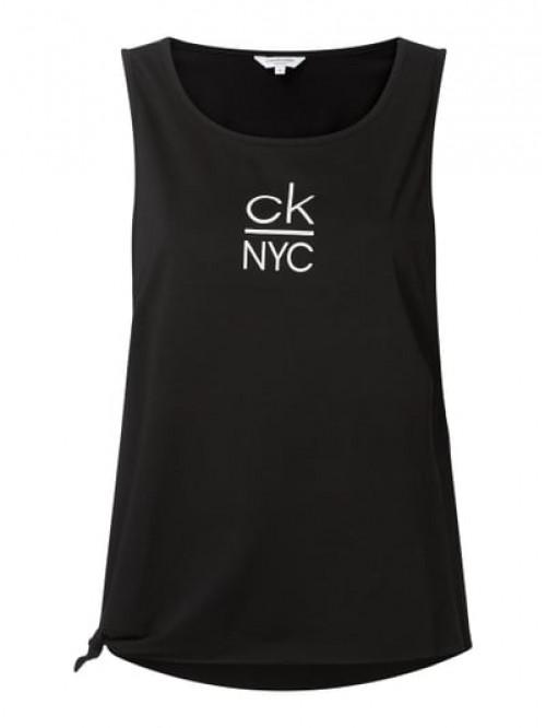 Dámské tílko Calvin Klein Side Knotted Tank černé