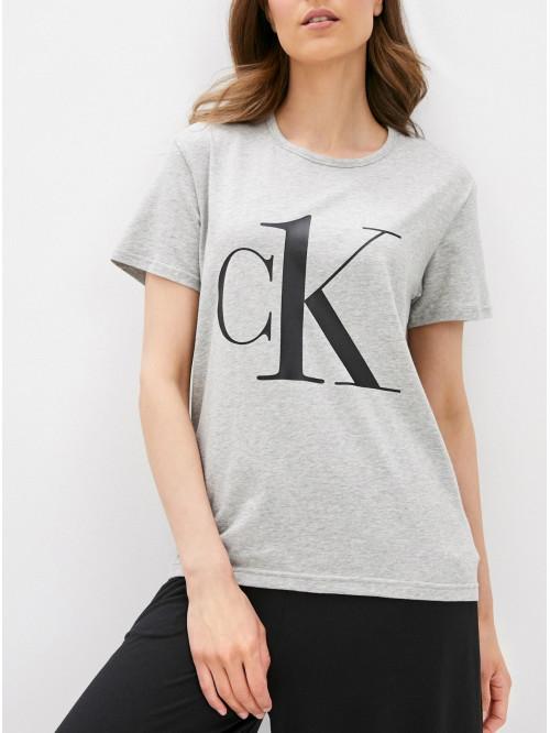 Dámské triko Calvin Klein CK ONE Logo šedé