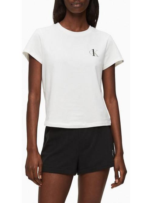 Dámské triko Calvin Klein CK ONE SS Crew Neck bílé