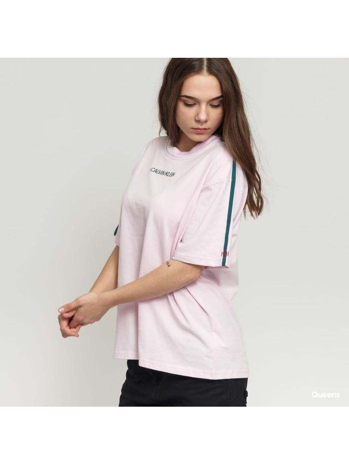 Dámské tričko Calvin Klein SS Crew Neck růžové