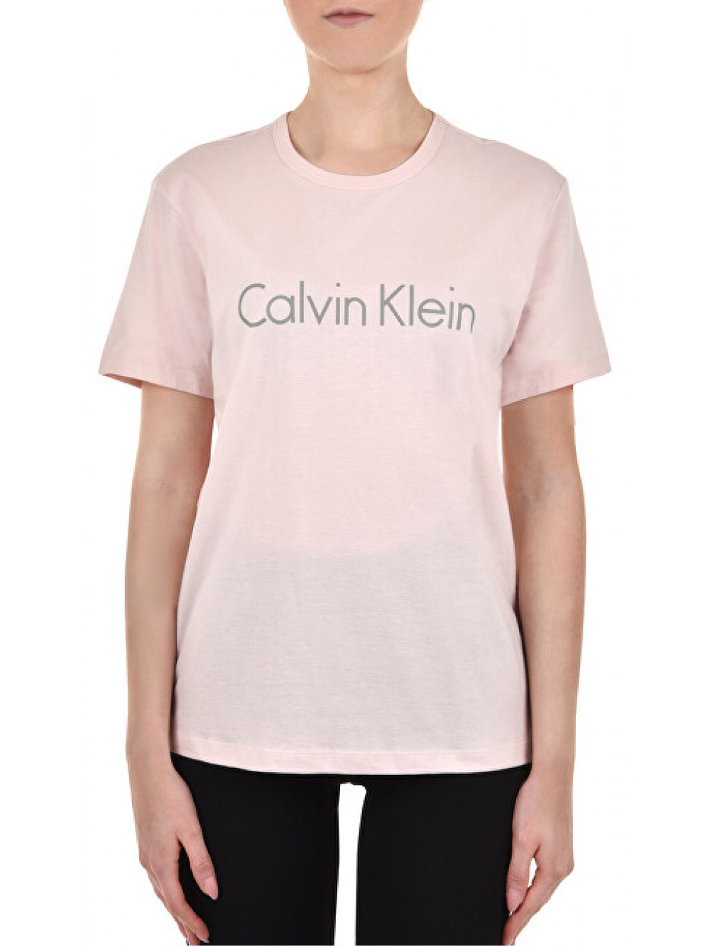 Dámské tričko Calvin Klein S/S Crew Neck světle růžové