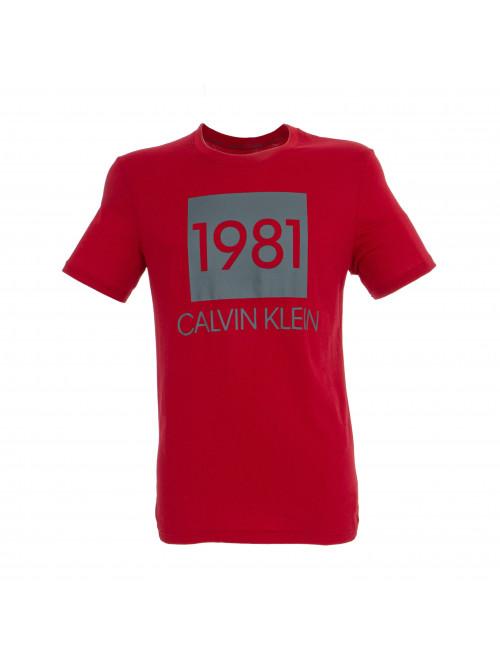 Pánské tričko Calvin Klein SS Crew Neck 1981 červené