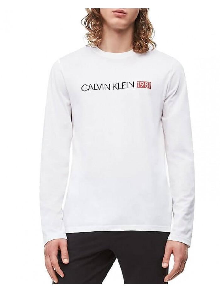 Pánské tričko Calvin Klein Crew Neck 1981 bílé