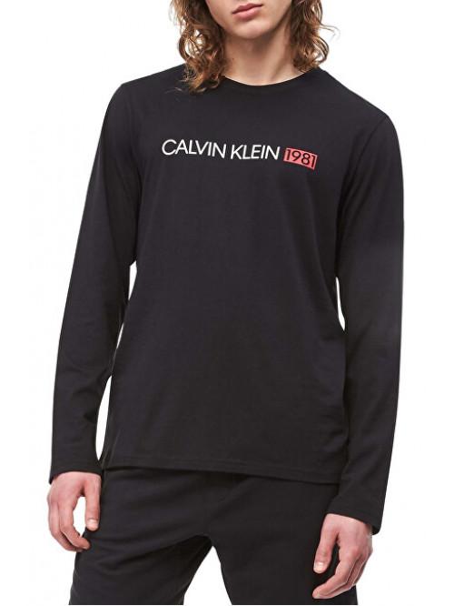 Pánské tričko Calvin Klein Crew Neck 1981 černé
