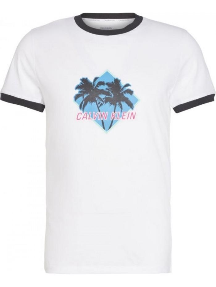 Pánské tričko Calvin Klein Relaxed Retro bílé
