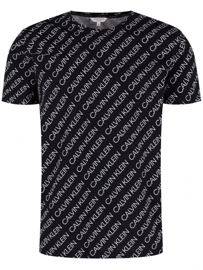 Pánské tričko Calvin Klein Logo Print černé