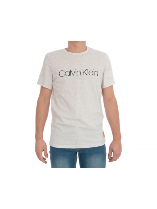 Pánské tričko Calvin Klein SS Crew Neck béžové