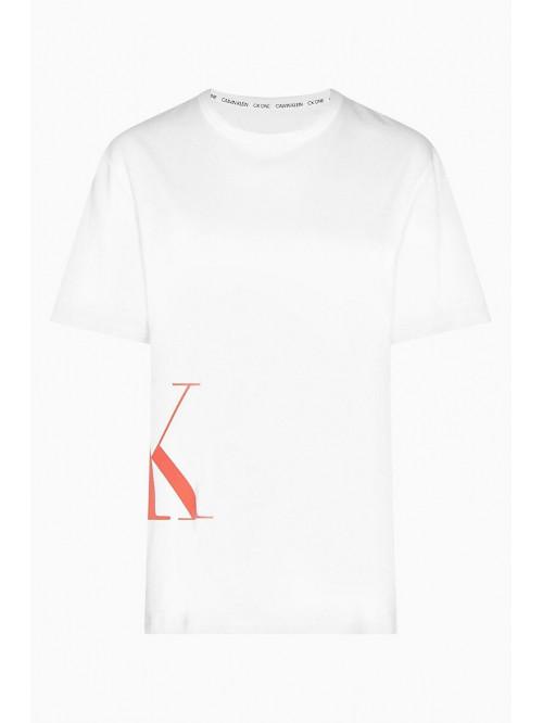 Pánské tričko Calvin Klein SS Crew Neck Logo bílé