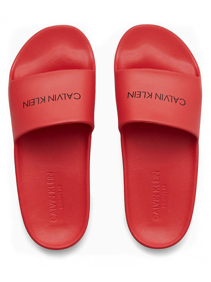 Dámské pantofle Calvin Klein One Mold Slide červené