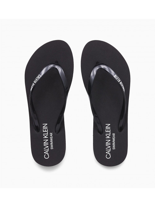 Dámské žabky Calvin Klein Swimwear černé