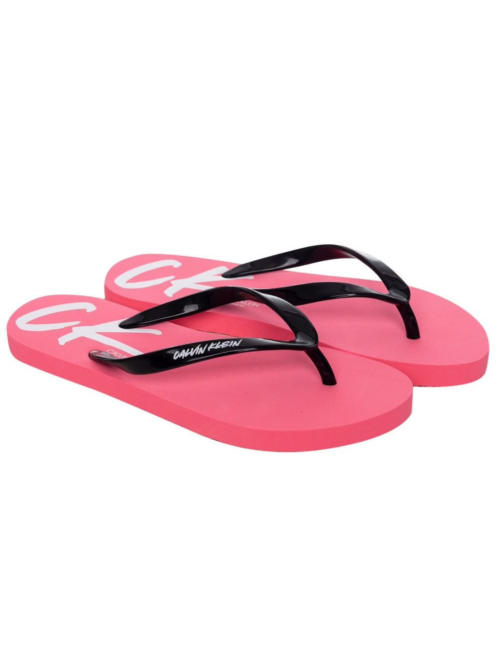 Dámské žabky Calvin Klein Wave růžovo-černé