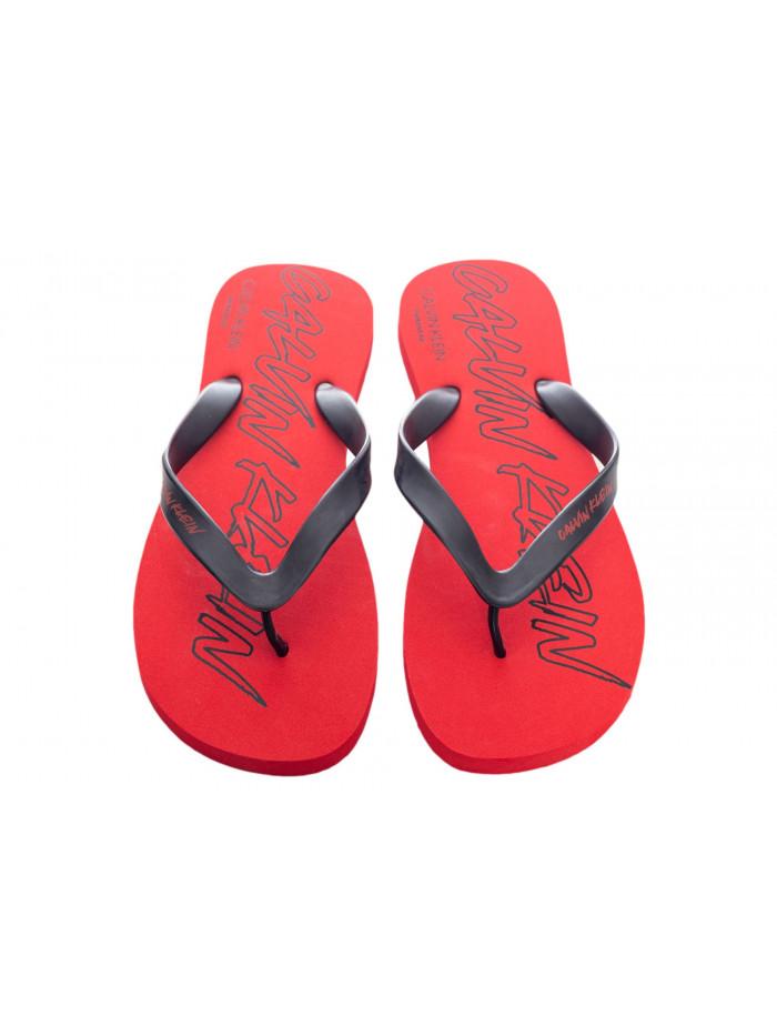 Pánské žabky Calvin Klein Risk Red červené