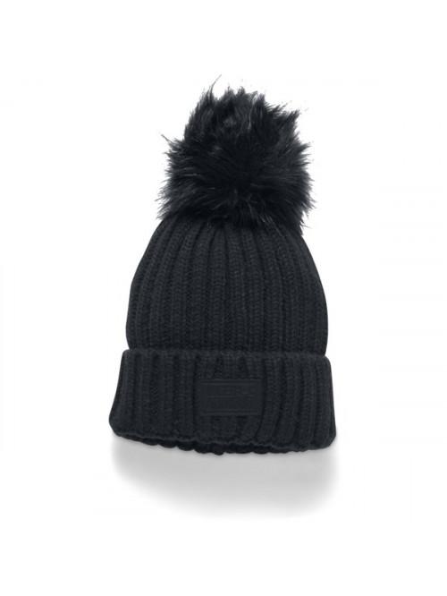 Dámská čepice Under Armour Snowcrest Pom Beanie černá