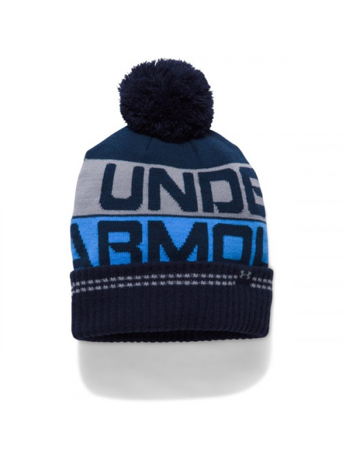 Pánská čepice Under Armour Retro Pom Beanie modrá