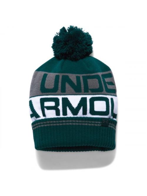 Pánská čepice Under Armour Retro Pom Beanie zelená