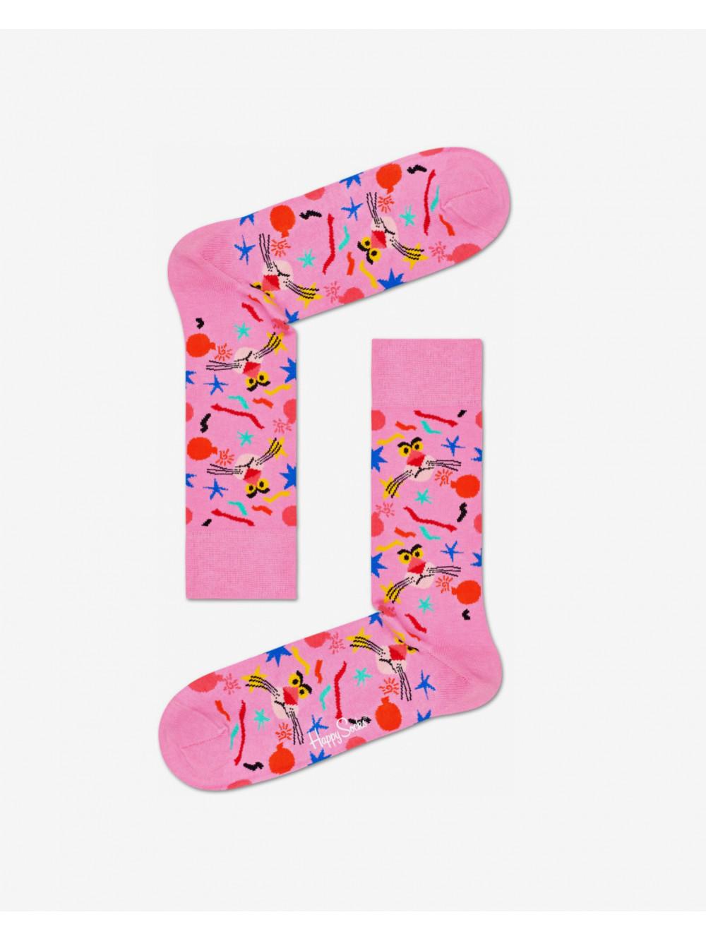 Ponožky Happy Socks Pink Panther Bomb Voyage růžové